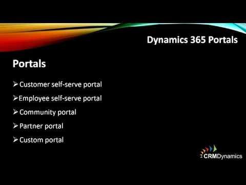 Microsoft Dynamics 365 Webinar - Portals