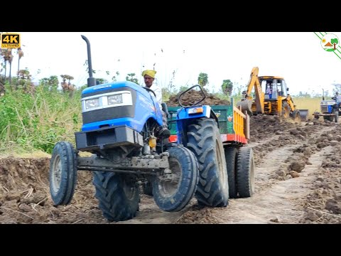 Sonalika DI 47 RX Tractor Fully Loaded | JCB 3DX Machine | Tractor Video