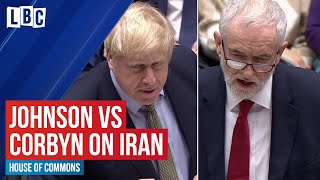 Boris Johnson vs Jeremy Corbyn on the Iran US crisis | House of Commons