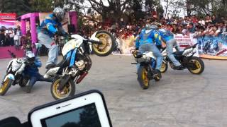 Pulsar Stunt Mania@Hyderabad 31st Jan 2014