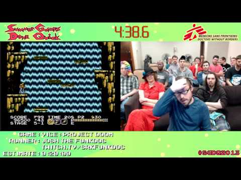 Vice: Project Doom :: SPEED RUN (0:14:28) [NES] *Live at Summer Games Done Quick 2013*