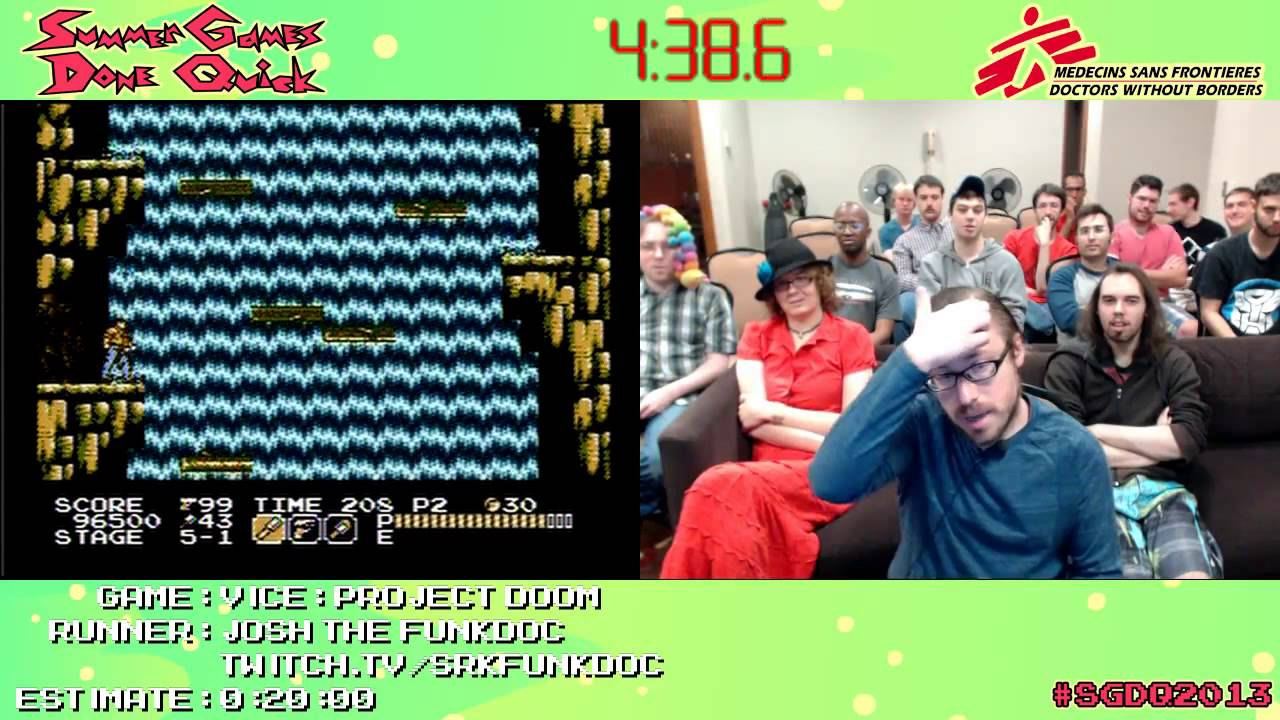 Vice Project Doom Speed Run 0 14 28 Nes Live At