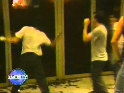 Riot footage outside of SLAYER DANZIG   at the Hollywood Palladium 80s