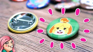Making Cute ANIMAL CROSSING Buttons!