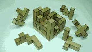 Brain Cube Puzzle 5x5x5 made of 14 different parts