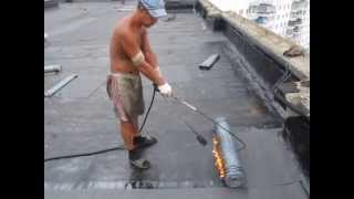Технология укладки рубероида на крыше ( Москва, ул. Маршала Катукова 21, корп. 1) №2(, 2013-07-16T09:21:42.000Z)