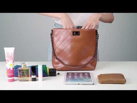 D10V127 미국 S-ZONE 여성 가죽 호보백 버킷백 컨버터블 크로스백 숄더백 토트백 핸드백 가방