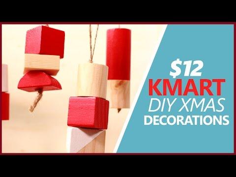 DIY $12 KMART TOY BLOCK Christmas Decorations!