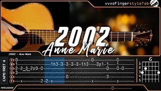 Anne Marie - 2002 - Cover (Fingerstyle Guitar Cover) TABS on Screen Video