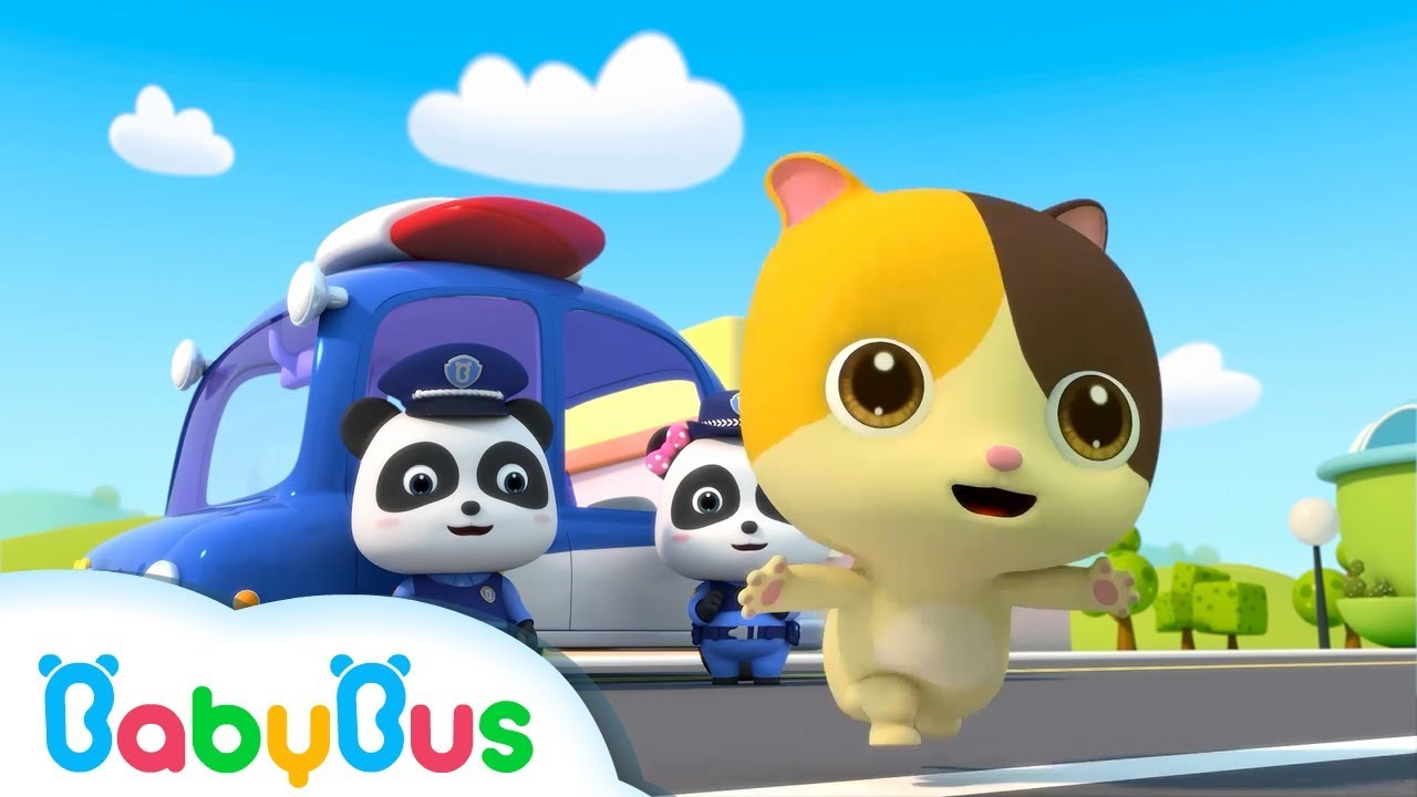 Help Baby Kitten Go Home |  Kids Policeman Pretend Play | Animation & Kids Songs | BabyBus