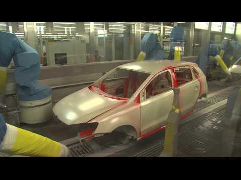 Volkswagen Polo Production at the Pamplona plant, Spain
