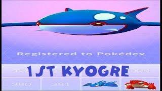 Pokemon Go - Kyogre Raid u0026 Catch Level 40