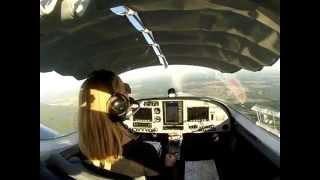 Vol solo d'une femme élève pilote - PS28 - Sport Cruiser