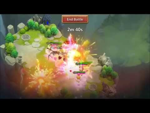 Castle Clash Deflect Boss Stomped On Plus Lost Realm Action