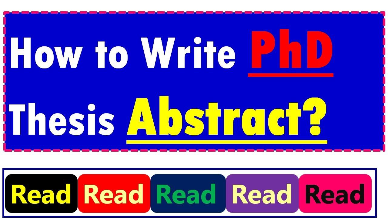 Phd thesis writing skills
