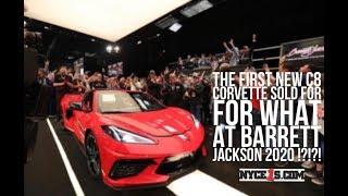 First Ever 2020 C8 Corvette Sells for $3 Million at Barrett Jackson!!