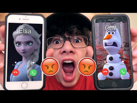 DO NOT CALL ELSA AND OLAF (FROM FROZEN 2) AT THE SAME TIME!! *CRAZY FIGHT*