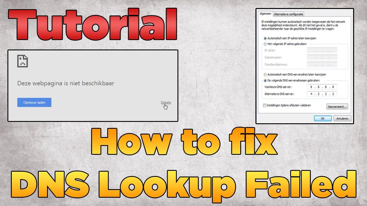 How to fix DNS Lookup Failed | Tutorial 2015 (Windows)