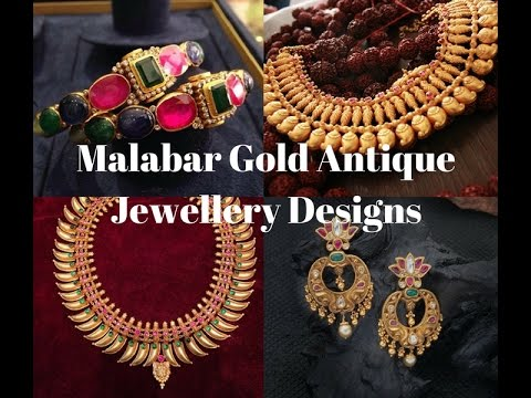 Malabar Gold Antique Jewellery Designs - YouTube