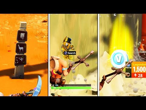 Solving The SECRET Treasure Maps Added To Fortnite.. (GOLDEN LOOT LLAMA SEASON 5)
