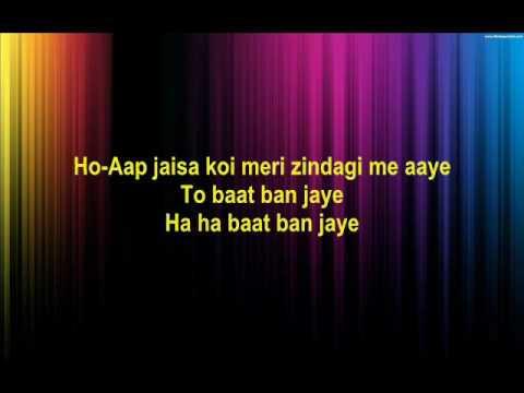 Aap jaisa koi meri zindagi me aaye - Qurbani - Full Karaoke