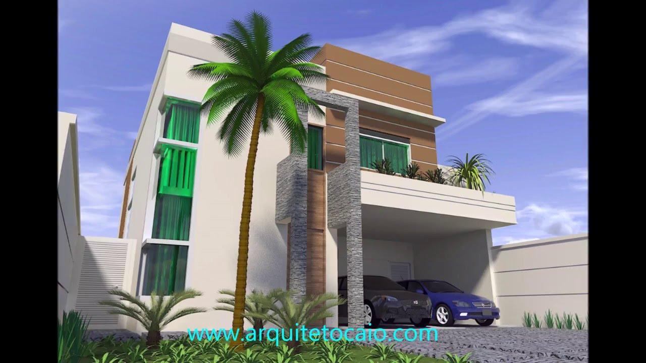 Projeto residencia sobrado moderno portico vidro telhado for Portico moderno