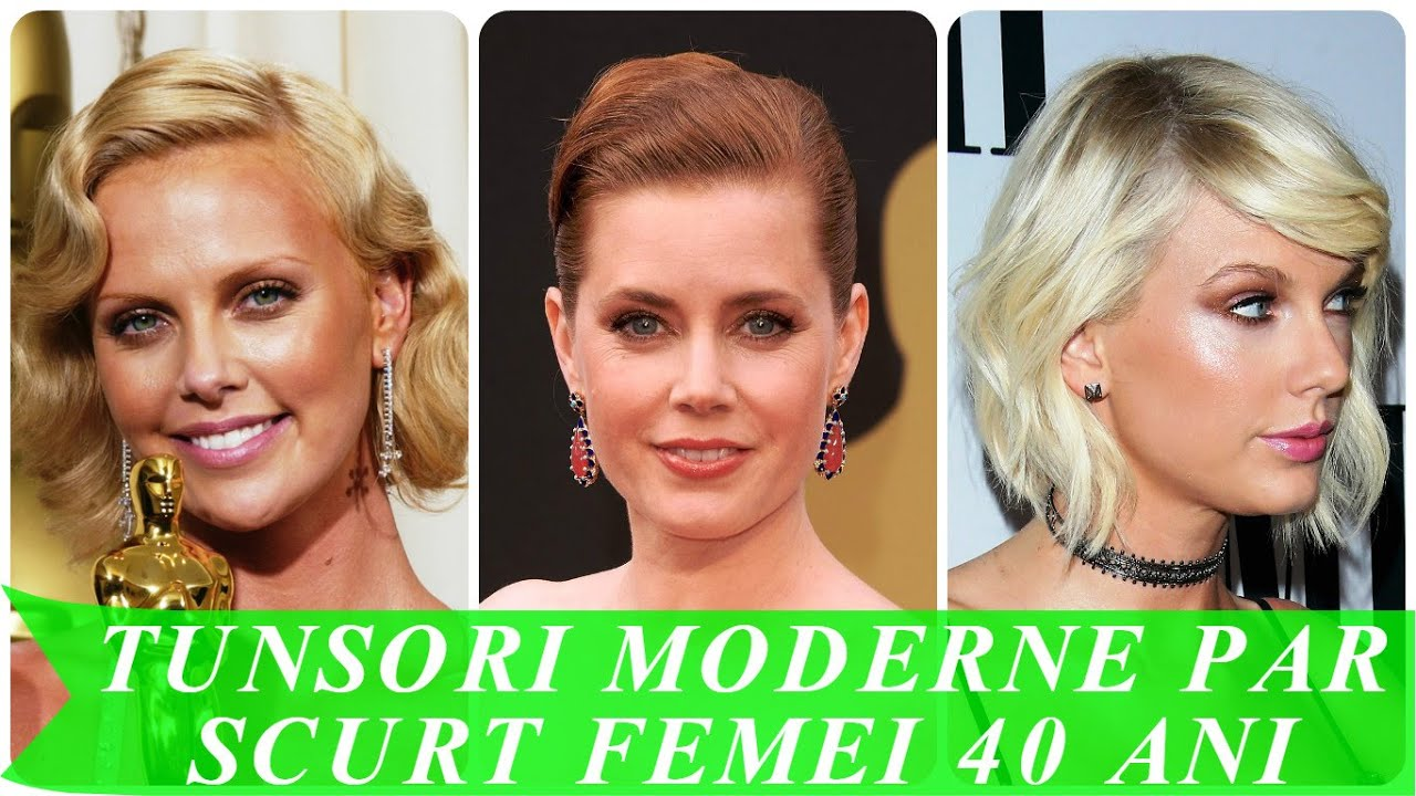 Tunsori moderne par scurt femei 40 ani - YouTube