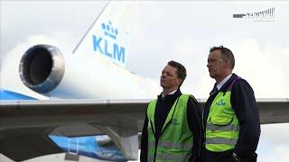 KLM-technici nemen afscheid van geliefd MD-11 vliegtuig