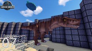 Jurassic World Season 2 Day 7 - T-Rex Exhibit Part 4  (Ark Survival in Minecraft)