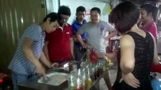 Hướng dẫn làm kem cuộn Thái Lan