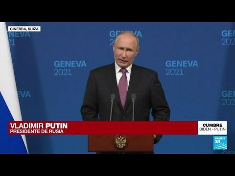 """""""Esta fue una reunión fructífera y significativa"""": Putin sobre su encuentro con Biden"""