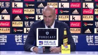 Declaraciones de Zidane tras la contundente victoria frente a la Real Sociedad