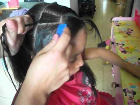 trenza postiza. peinados infantiles. MINNI PEINADOS KATA