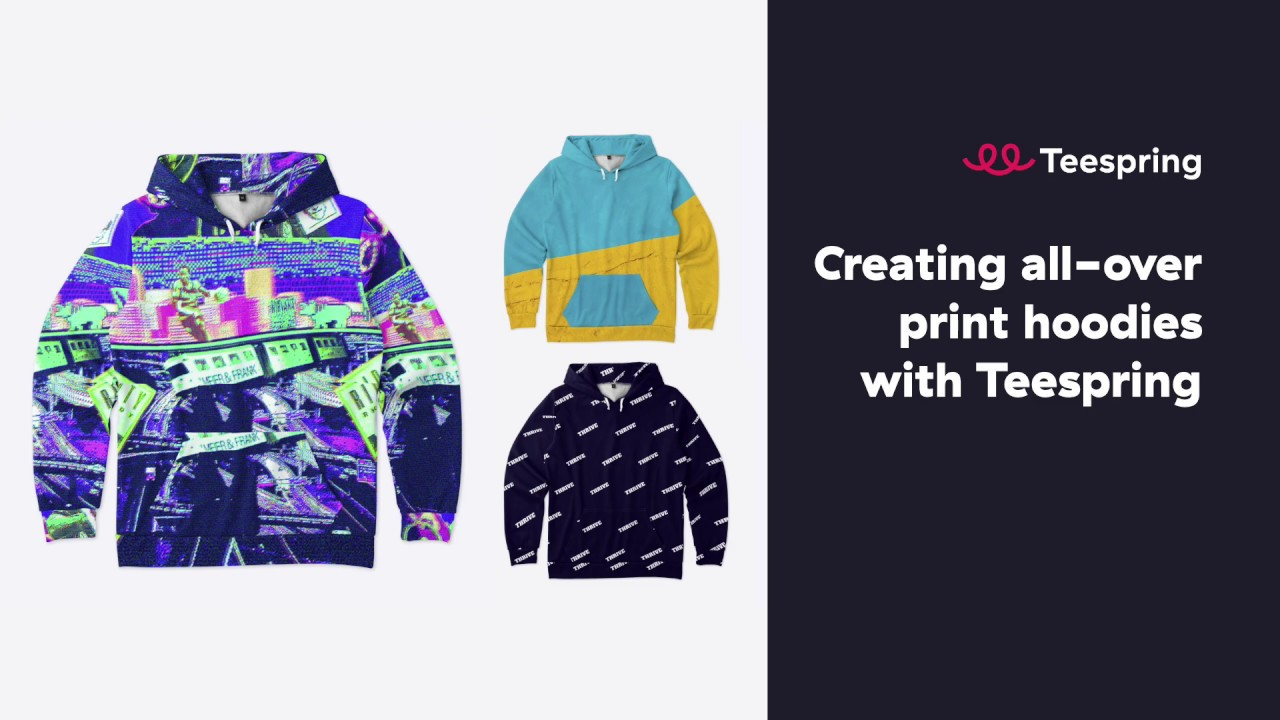 Teespring Design Template Tutorial: All-Over Print Hoodie