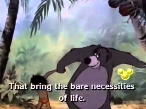The Bare Necessities The Jungle Book with Lyrics) - YouTube