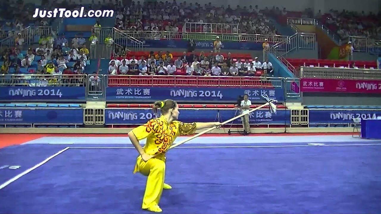 Nanjing 2014 Youth Wushu Tournament - Wushu (Taolu) - Women's Qiangshu  (Spear) - 3rd Place