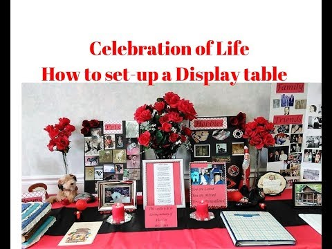Celebration Of Life Ideas / How To Set-up A Table For Memorial Service / Memory Board Ideas