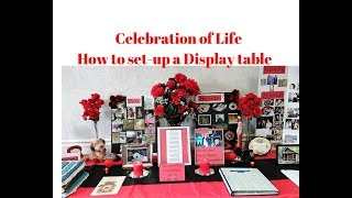 Celebration Of Life Ideas / How To Set Up A Table For Memorial Service / Memory Board Ideas