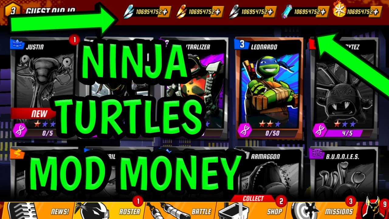 Ninja Turtles Legends 1 11 39 Mod Unlimited All Android No