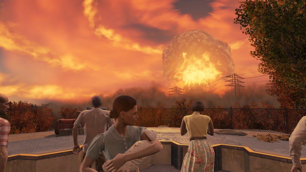 Modern Warfare Wallpaper Hd Fallout 4 Nuke Scene Youtube