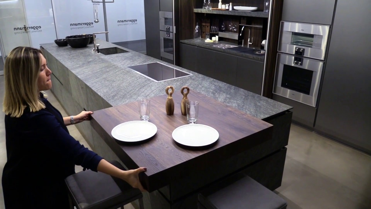 Luxury Dining Table Built In Stone Kitchen Island Youtube