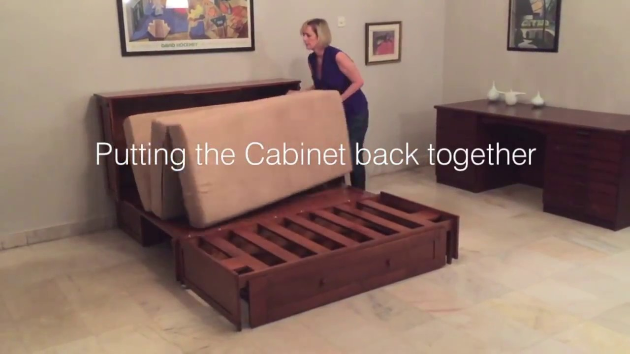 Converting Queen Murphy Cabinet Bed & Converting Queen Murphy Cabinet Bed - YouTube