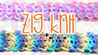 NEW Zig Knit Rainbow Loom Bracelet Tutorial | How To Thumbnail