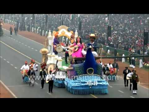 Musical heritage tableau of Goa on Republic day 2017