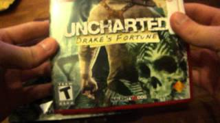 Uncharted dual pack unboxing (PS3)