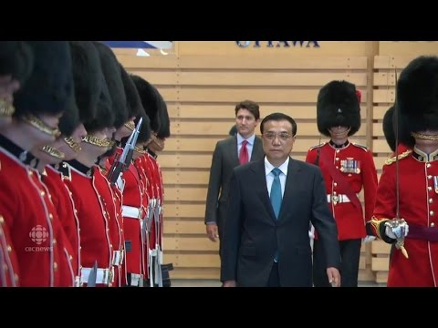Chinese Premier arrives on Parliament Hill