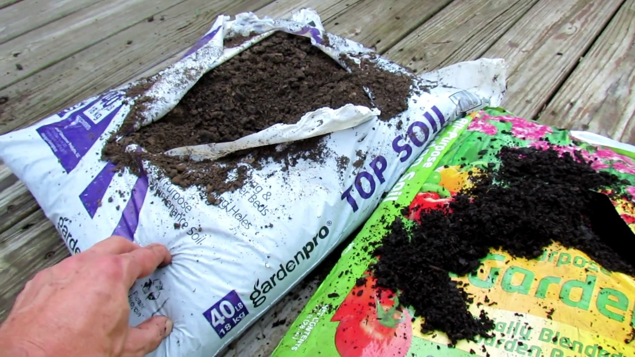 What does topsoil garden soil raised bed soil and for Topsoil vs potting soil