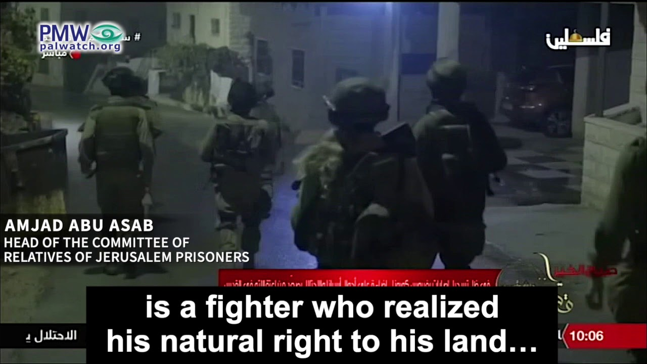 PA: All Israel is Palestinian land; all Israelis are settlers