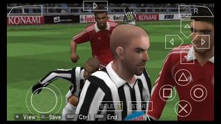 Pes 2007 psp gameplay (see this)