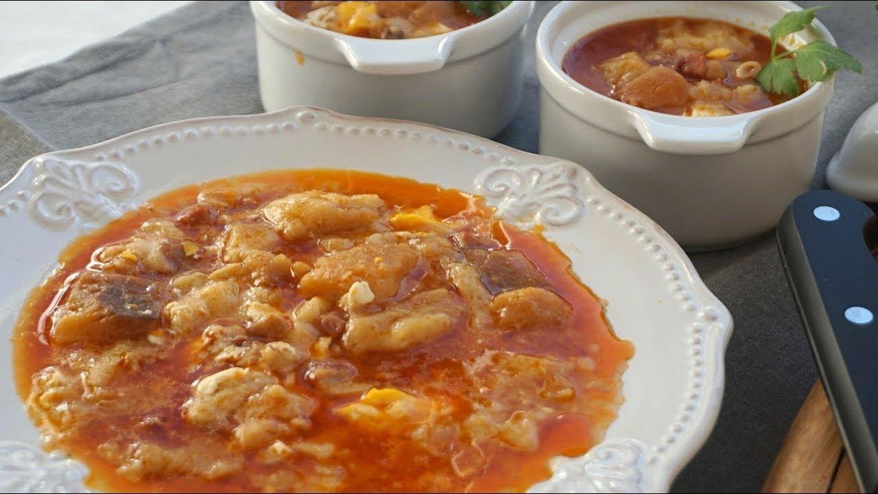 Sopa de ajo o sopa castellana receta para aprovechar pan - Sopa castellana youtube ...